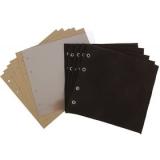 Комплект листов в альбом для значков вертикальный (5 ткань+5 картон+промежут.)