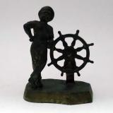 Моряк возле штурвала бронза Нимор