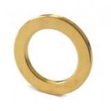 Неодимовый магнит 17х11,5х1,5 кольцо, позолота